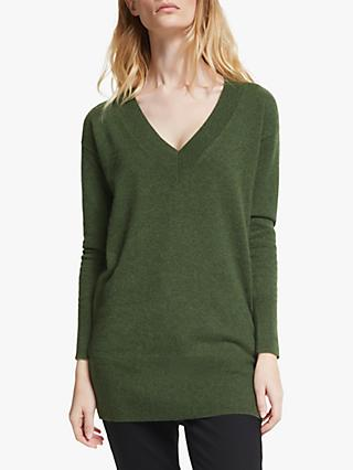 John Lewis & Partners Relaxed V-Neck Cashmere Sweater