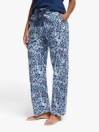 John Lewis & Partners Kia Animal Print Pyjama Bottoms, Blue