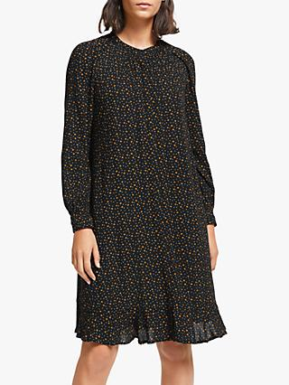 Collection WEEKEND by John Lewis Easy Micro Floral Smock Dress, Black/Multi