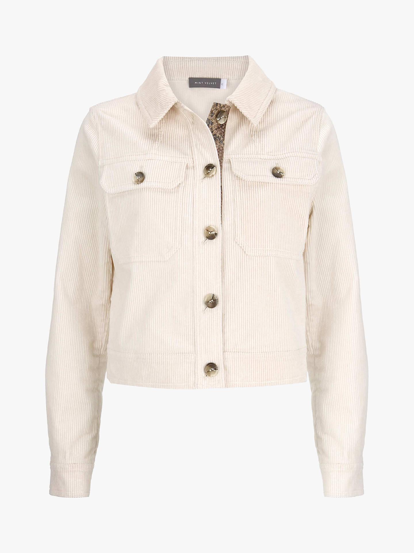 12b1e51bd Mint Velvet Cord Cropped Jacket, Cream