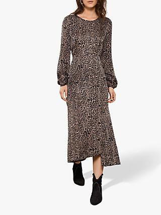 Mint Velvet Leopard Midi Dress, Multi