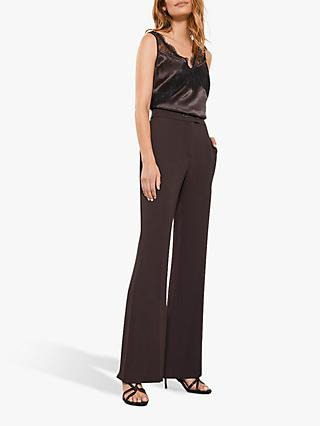 Mint Velvet Bootleg Trousers, Brown