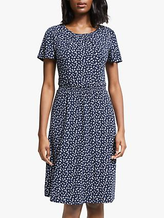 Boden Evangeline Floral Jersey Dress, Navy