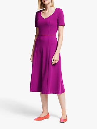 Boden Hadley Ottoman Shift Dress, Vibrant Plum/Red