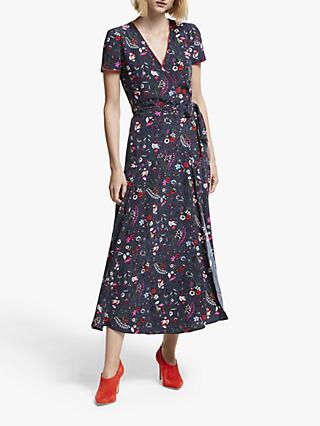 Boden Natasha Wrap Dress, French Navy