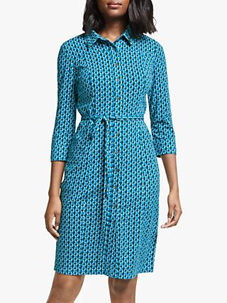 Boden Tara Jersey Cotton Dress, Blue Lagoon