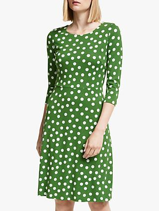 Boden Theodora Ponte Polka Dot Dress