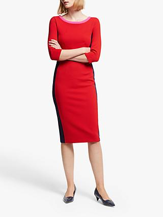 Boden Leah Ottoman Dress, Post Box Red