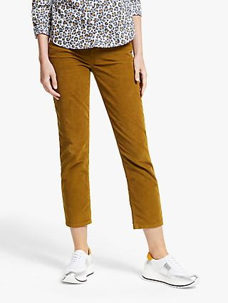 Boden Straight Slim Cord Jeans, Gingerbread