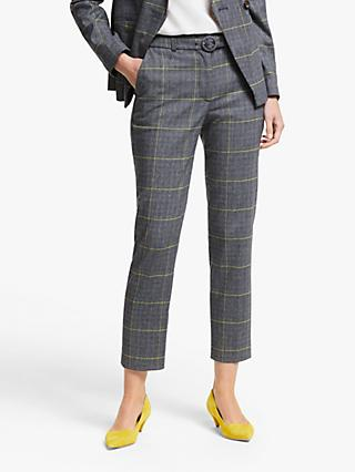 Boden Malden Tweed Belted Trousers