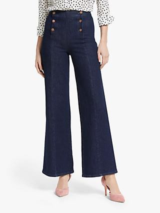 Boden Sailor Wide Leg Jeans, Indigo