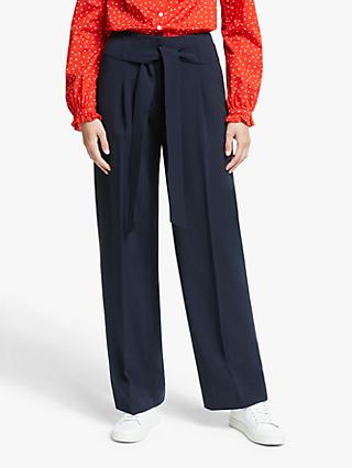 Boden Ketton Wide Leg Belted Trousers