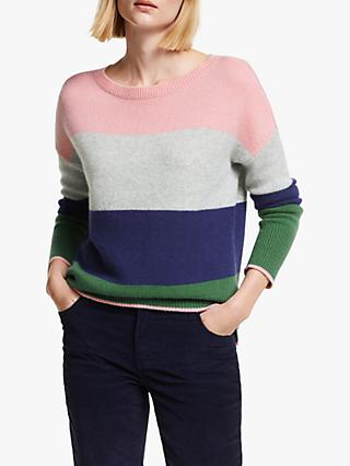 Boden Melinda Cashmere Colour Block Jumper