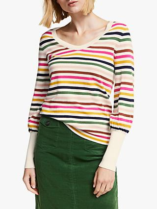 Boden Bernice Stripe Jumper, Multi
