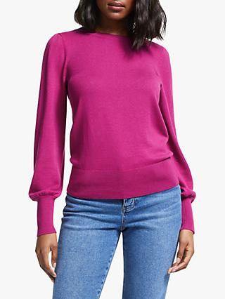 Boden Antonia Wool Blend Jumper, Vibrant Plum