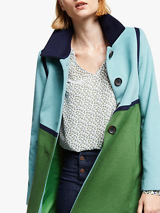 Boden Lovelace Coat, Broad Bean