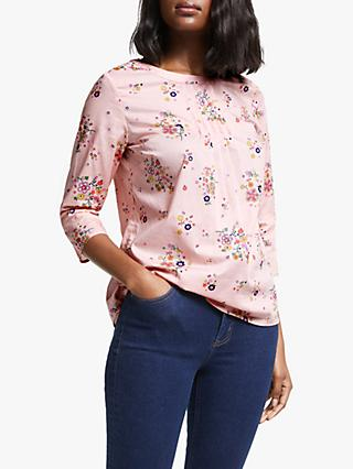 Boden Isabella Cotton Top, Chalky Pink