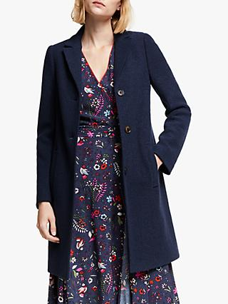 Boden Stanhope Tailored Coat, Navy