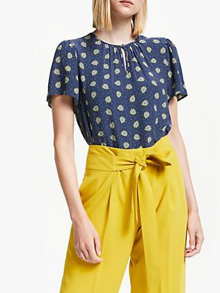 Boden Phoebe Keyhole Top, French Navy