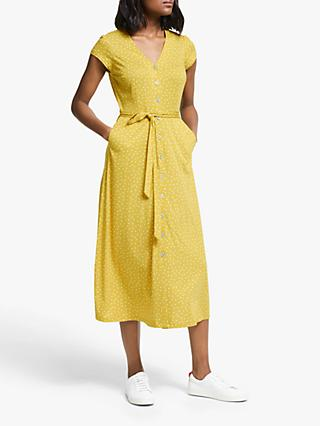 Boden Frances Jersey Dress, Saffron