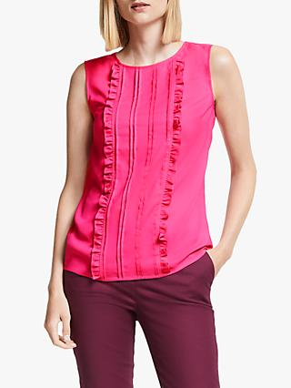 Boden Penny Ruffle Top, Party Pink