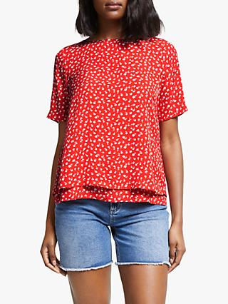 Boden Marisa Floral Top, Red