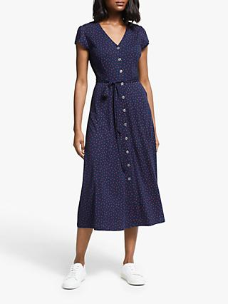 Boden Frances Jersey Dress, Navy