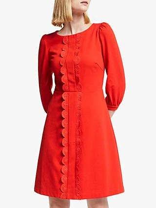Boden Alexandra Ponte Dress, Red