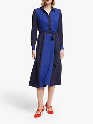 Boden Betty Colour Block Midi Shirt Dress