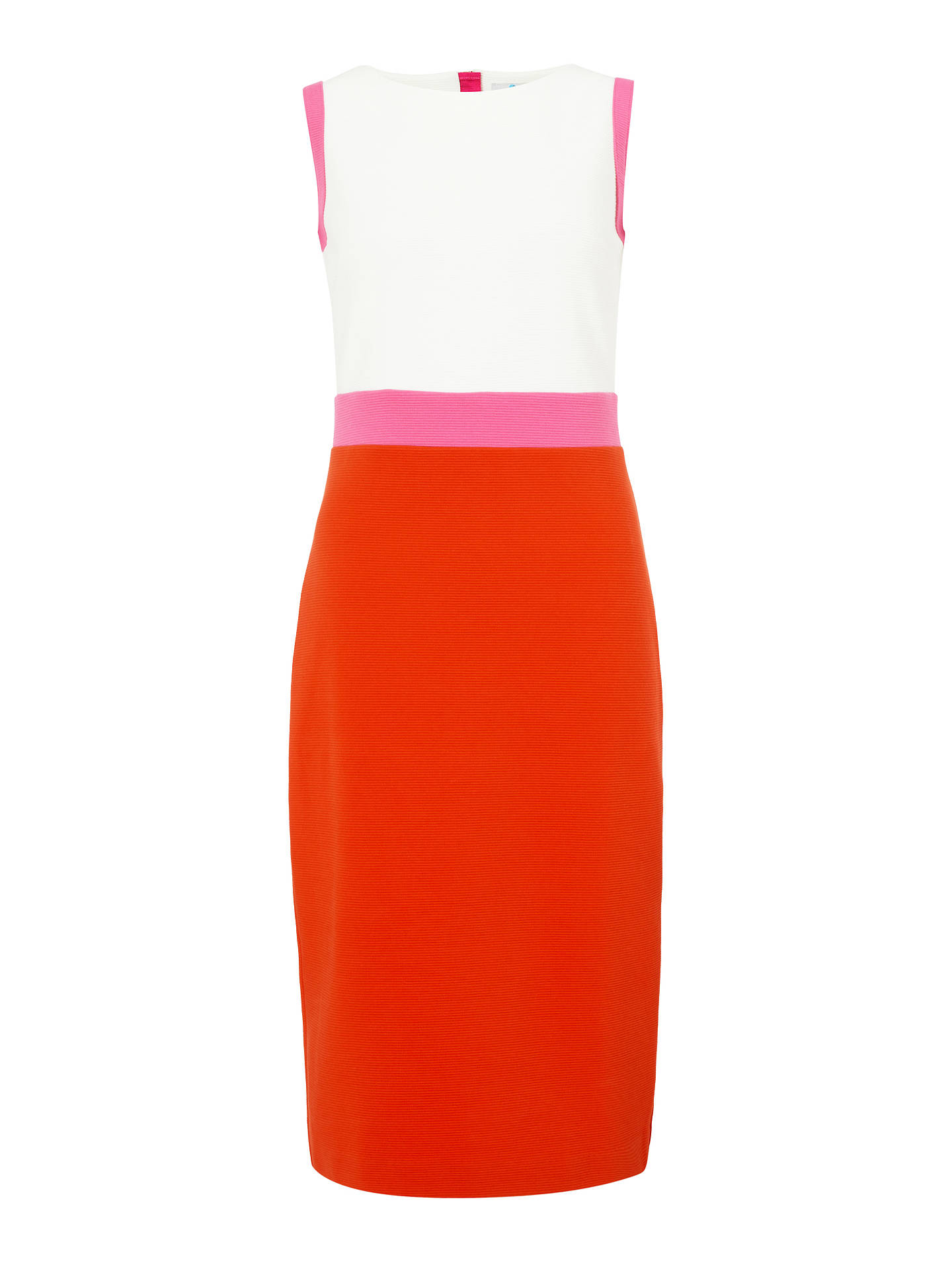 Buy Boden Celia Ottoman Dress, Red/White, 12 Online at johnlewis.com