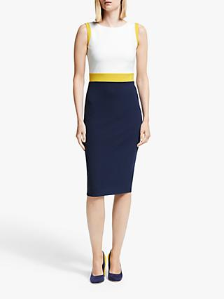 Boden Celia Ottoman Dress, Navy/Saffron