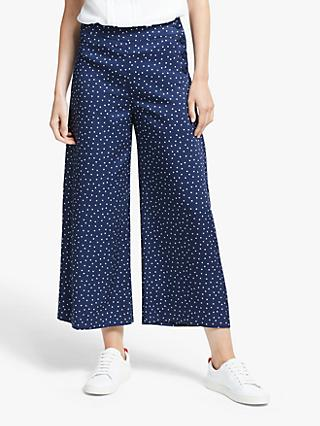 Boden Bray Polka Dot Trousers, Navy