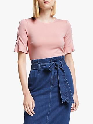 Boden Bella Ponte Top, Chalky Pink