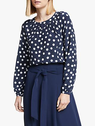 Boden Eadie Spot Top, French Navy