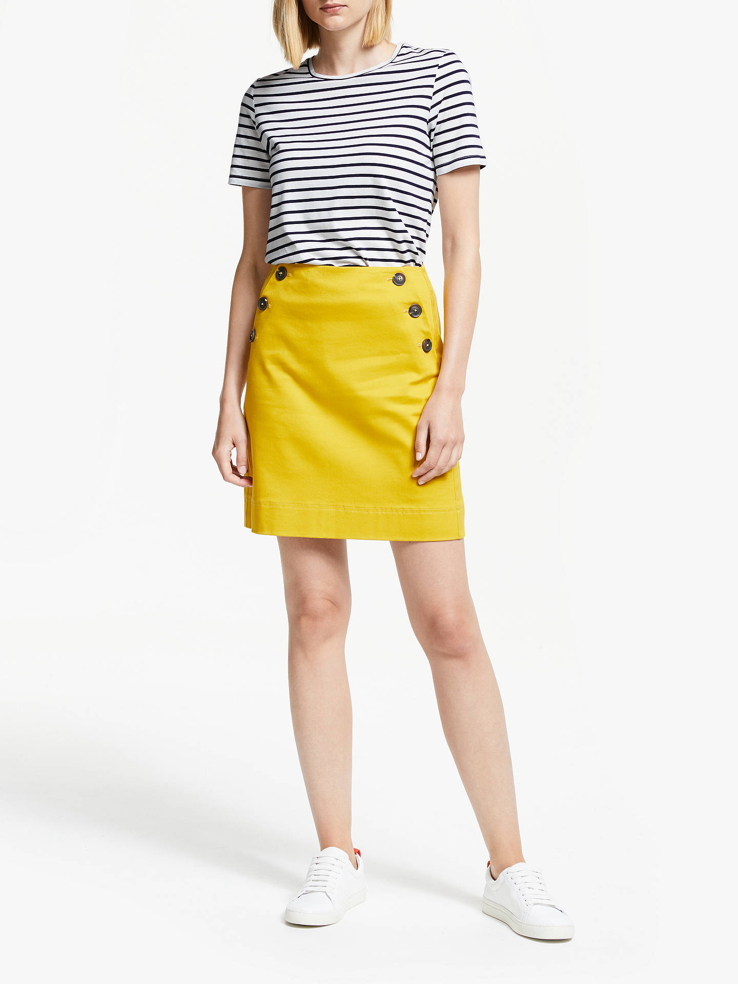 Buy Boden Stripe T-Shirt, Ivory/Navy, S Online at johnlewis.com