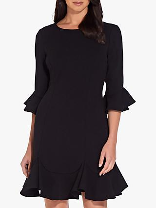 Adrianna Papell Knitted Crepe Dress