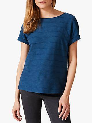 Phase Eight Eudora Ripple Texture T-Shirt, Petrol