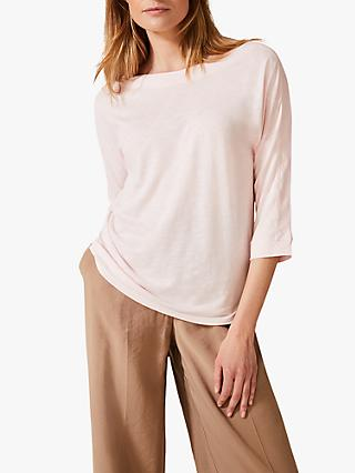 Phase Eight Belle Boat Neck Top, Pale Pink