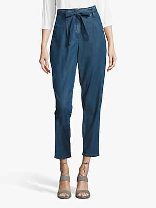 Betty & Co High Rise Belted Jeans, Blue Denim
