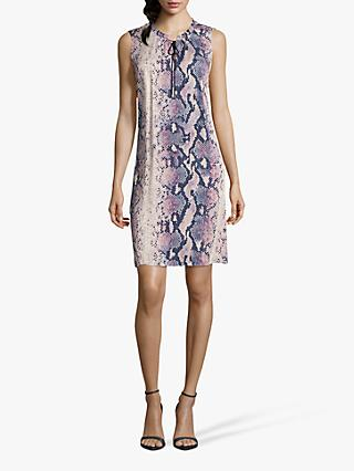 Betty & Co. Python Print Dress, Blue/Beige