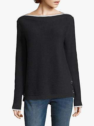 Betty & Co Ribbed Jumper, Black
