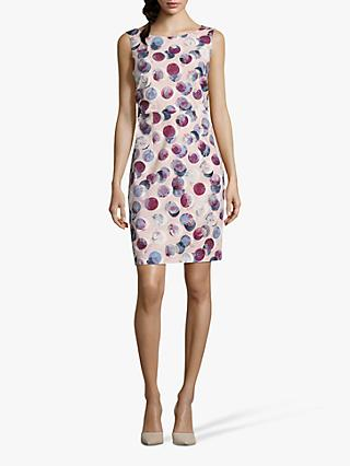 Betty & Co. Globe Print Dress, Rosé/White