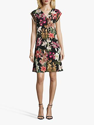 Betty & Co. Floral Dress, Black/Purple