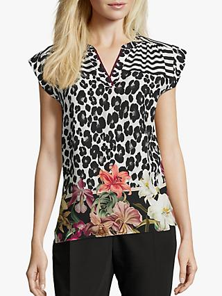 Betty & Co. Multi Print Top, Black/Cream