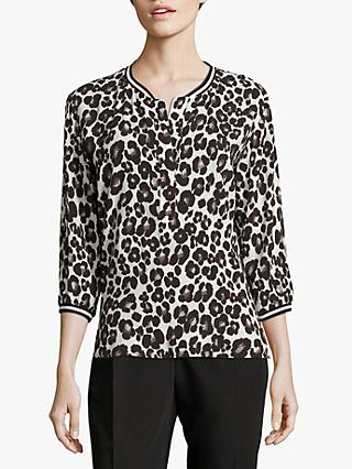 Betty & Co. Animal Print Top, Cream/Black