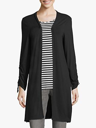 Betty & Co Tie Cuff Cardigan, Black