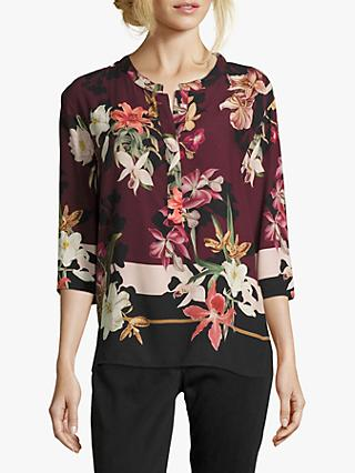 Betty & Co. Floral Blouse, Purple/Black
