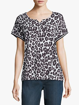 Betty Barclay Animal Print Top, Cream/Black