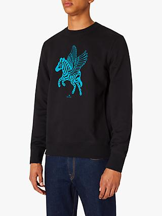 PS Paul Smith Winged Zebra Motif Sweatshirt, Black