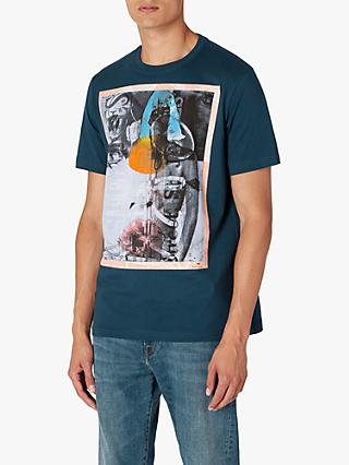 PS Paul Smith Abstract Print T-Shirt, Teal